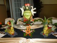Wedding fruit carving displays