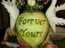 Wedding watermelon carving displays