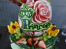 Girls baby shower fruit display