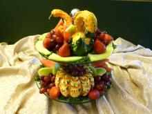 Thanksgiving fruit centrepiece