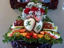 personalized wedding fruit tray