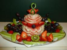 Birthday fruit tray