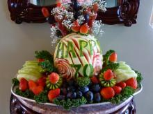 70th birthday fruit tray