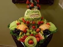 Christmas fruit trays