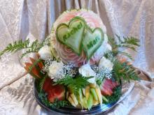 fruit carving wedding display