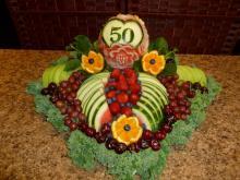 50th birthday fruit platter