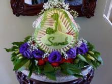 wedding shower watermelon display