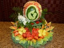 Baby shower watermelon carving