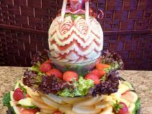 Little girl's birthday fruit platter