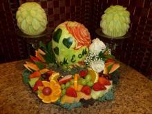 Fruit carvings/fruit platter