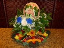 Baptism fruit platter display