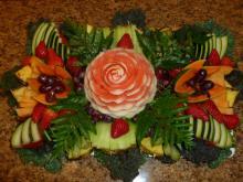Artistic fruit platter