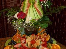 Bridal shower fruit display