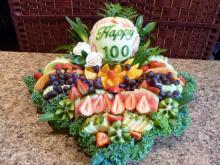 Happy birthday fruit platter
