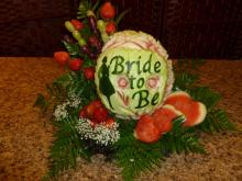 Bride to be centrepiece